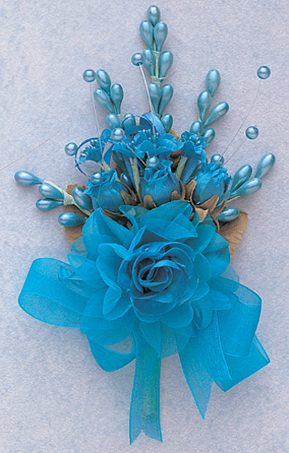 "7"" Turquoise Bridal Corsage Silk Spray Flowers - Pack of 12"