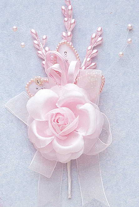 """7"""" Pink Rose Corsage Silk Spray Flowers - Pack of 12"""