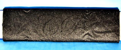 """54""""x10 yards (30FT) Black Glitter Tulle Bolt"""