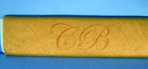"""54""""x10 yards (30FT) Gold Glitter Tulle Bolt"""