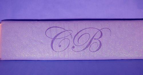 """54""""x10 yards (30FT) Lavender Glitter Tulle Bolt"""