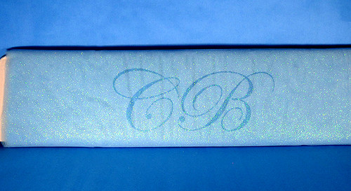 """54""""x10 yards (30FT) Light Blue Glitter Tulle Bolt"""