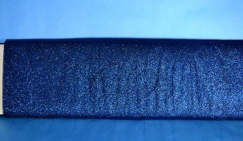 """54""""x10 yards (30FT) Navy Blue Glitter Tulle Bolt"""