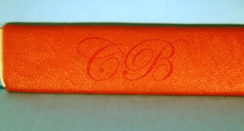 """54""""x10 yards (30FT) Orange Glitter Tulle Bolt"""