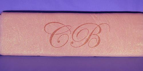 """54""""x10 yards (30FT) Light Pink Glitter Tulle Bolt"""