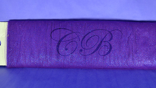 "54""x10 yards (30FT) Purple Glitter Tulle Bolt"