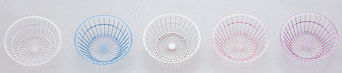 "9"" Diameter Plastic Serving Baskets - Pack of 48 Pieces"