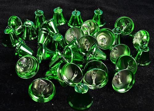 """1 1/4"""" Emerald Metal Wedding Bells - Pack of 100"""
