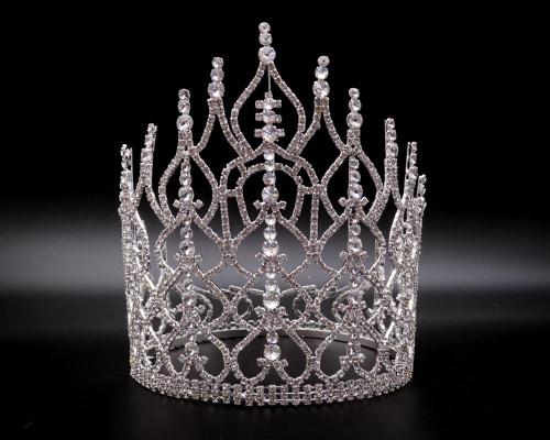 King Size Crown Rhinestone Tiara (AK001)