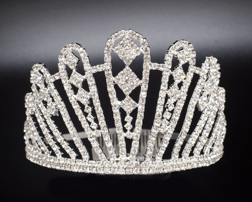"3"" Super Size Crown Rhinestone Tiara (Z005)"