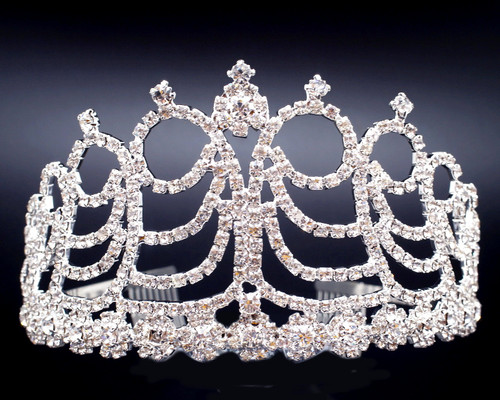 "3"" Super Size Crown Rhinestone Tiara  (Z070)"