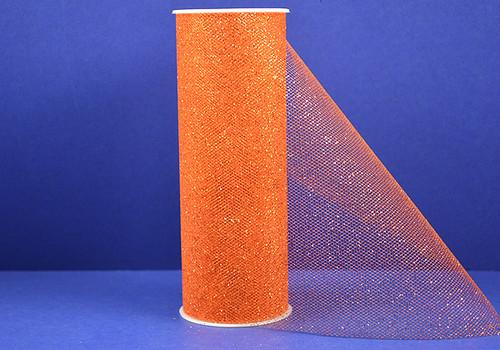 """6""""x10 yards (30FT) Orange Glitter Tulle Rolls - Pack of 6 Tulle Spool"""