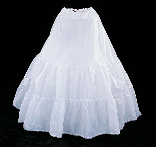 "38"" Long Whtie Cotton Wedding Bridal Petticoat - Slip Skirt"