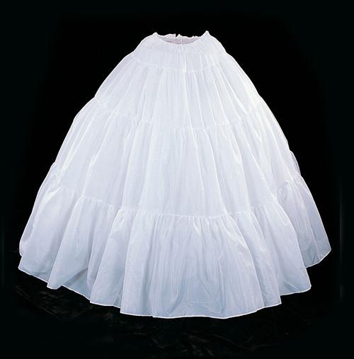 "42"" Long White Cotton Wedding Bridal Petticoat - Slip Skirt"