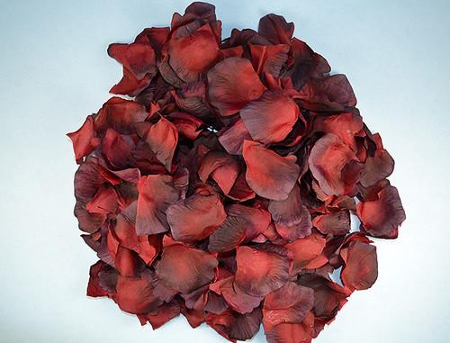 Burgundy Wedding Silk Rose Flower Petals - 12 Packs
