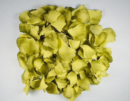 Moss Green Wedding Silk Rose Flower Petals - 12 Packs