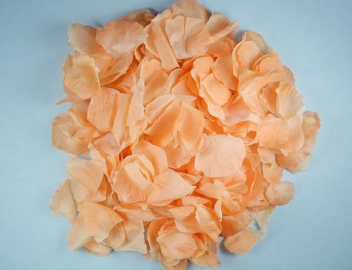 Peach Wedding Silk Rose Flower Petals - 12 Packs