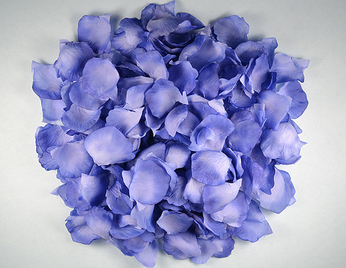 Royal Blue Wedding Silk Rose Flower Petals - 12 Packs