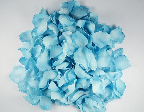 Turquoise Wedding Silk Rose Flower Petals - 12 Packs