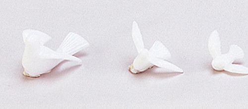 "1"" White Wedding Doves - Pack of 4320 Count - 30 Gross"