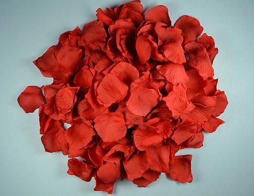 Red Wedding Silk Rose Flower Petals - 12 Packs