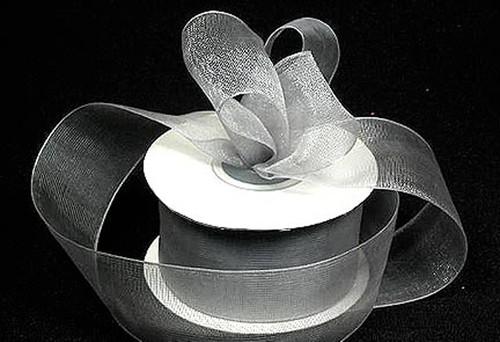 "1.5""x25 yards Silver Organza Sheer Gift Ribbon - Pack of 5 Rolls"