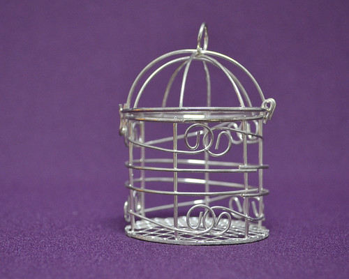 Silver Mini Decorative Bird Cages