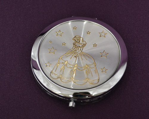 Gold Quinceanera Compact Mirror
