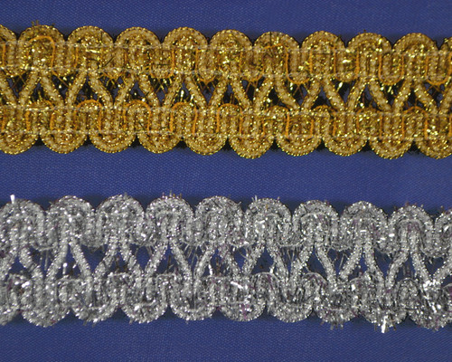 "1"" x 15 Yards Metallic Trim with Tinsel - 5 packs"