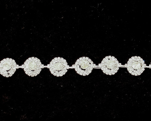 "5/8"" Crystal Rhinestone Trim - 1 Yard Rhinestone Chain Trim"