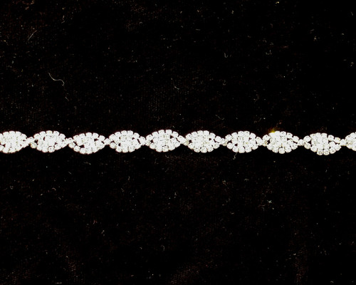 "5/16"" Crystal Rhinestone Trim - 1 Yard Rhinestone Chain Trim"