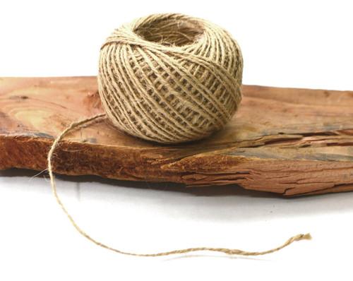 1.5 mm x 55 yards Natural Brown  Burlap Cord Rope - Pack of 9
