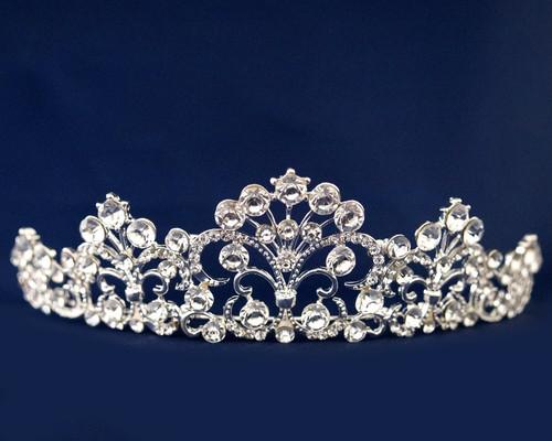 Silver Crystal Rhinestone Tiara (TN095)