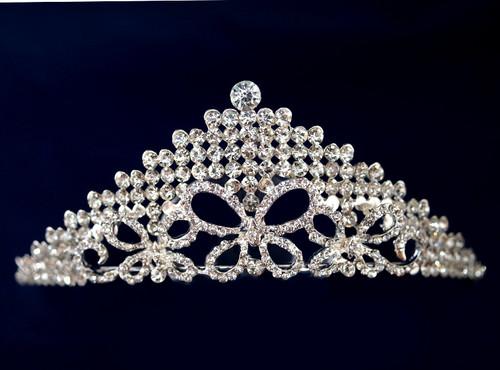 Silver Crystal Rhinestone Tiara  (TN096)