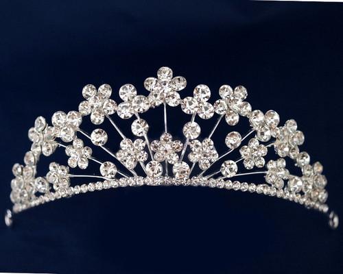 Silver Crystal Rhinestone Tiara  (TL089)
