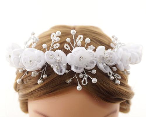 First Communion Flower Crown Headpiece  (CHP430)