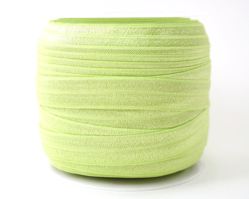 5/8 x 50 Yards Apple Green Fold Over Elastic Sewing Trim