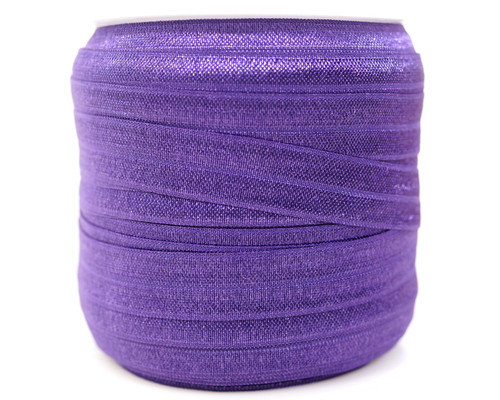 5/8 x 50 Yards Purple Fold Over Elastic Sewing Trim