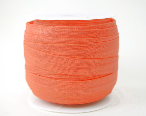 5/8 x 50 Yards Coral Fold Over Elastic Sewing Trim