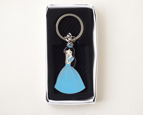 Turquoise Quinceanera Metal Keychain - Pack of 12