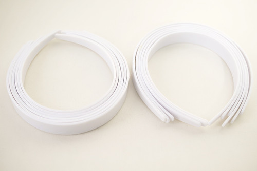 "3/4"" White Plastic Hair Headbands for Girls  - Pack of 72"