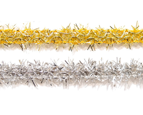 """5/8"""" x 20 Yards Fuzzy Tinsel Trim - Pack of 5"""