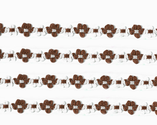 "3/8"" x 25 Yards Brown French Rococo Ribbon Trim - Pack of 5"