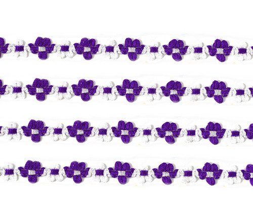 """3/8"""" x 25 Yards Purple French Rococo Ribbon Trim - Pack of 5"""