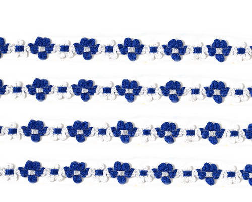 """3/8"""" x 25 Yards Royal Blue French Rococo Ribbon Trim - Pack of 5"""