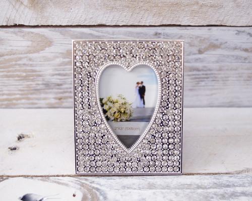 Rectangle Crystal Rhinestone Wedding Photo Frame - 1 Frame