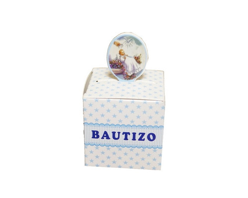 "2"" Blue Baptism Paper Favor Box for Boys - Pack of 50"