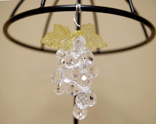"""3"""" Clear Artificial Acrylic Grape Cluster on Wire - Pack of 12"""