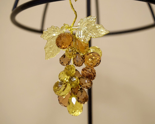 """3"""" Brown Artificial Acrylic Grape Cluster on Wire - Pack of 12 Cluster"""