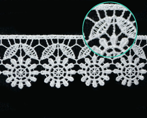 "1 1/2""x30 Yards White Floral Venice Lace Trim - Venise Lace Wholesale"